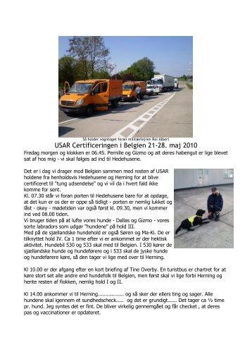 USAR Certificeringen i Belgien 21-28. maj 2010 - Redningshunden ...