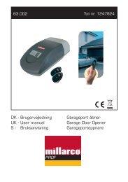 63002 DK - Brugervejledning - Garageport åbner.indd - Millarco