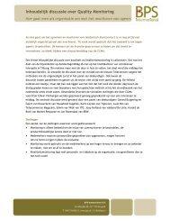 Inhoudelijk discussie over Quality Monitoring - Callcenter Makelaar