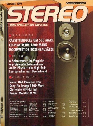 stereo sonderdruck german review «audio Physic Virgo - Willkommen