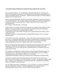 Formandens beretning 2011