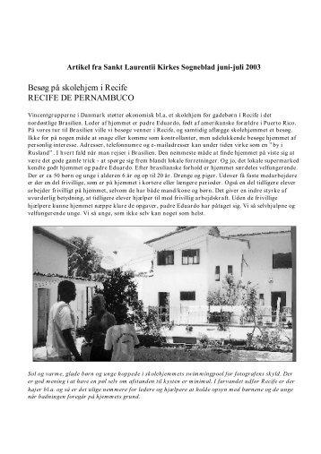Besøgsrapport - Sankt Vincent Grupperne