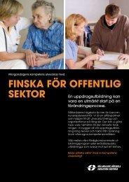 Produktblad Finska för offentlig sektor - Mälardalens högskola