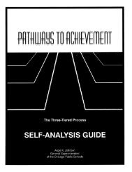 SELF-ANALYSIS GUIDE - Annenberg Institute for School Reform