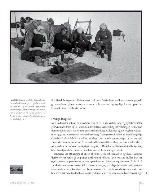 Fra et nordgrønlandsk udsted under Første Verdenskrig - Siden Saxo
