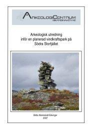 Arkeologisk utredning inför en planerad ... - Arkeologicentrum