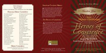 view brochure (PDF) - American Freedom Alliance