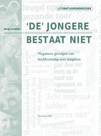 'DE' JONGERE BESTAAT NIET - Marije Cornelissen