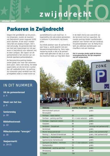 709071_infoblad oktober.indd - Gemeente Zwijndrecht
