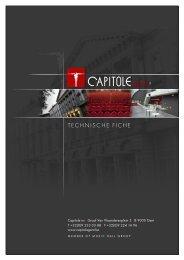Download de technische fiche - Capitole Gent