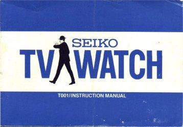 Manual SEIKO TV-Watch - Digital Watch Library
