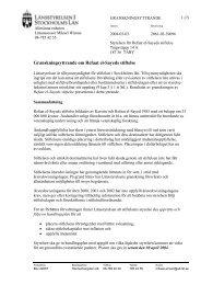 Läs granskningsyttrandet - Länsstyrelsen i Stockholms län