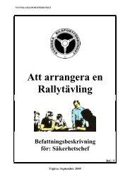 Säkerhetschef - Svenska Bilsportförbundet