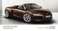 Kurzanleitung Audi R8 Spyder 5.2 FSI quattro - PDF