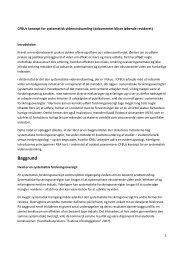 CFBUs koncept for en systematisk vidensindsamling - Center for ...