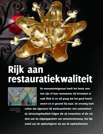 Rijk aan restauratiekwaliteit.pdf - Stichting ERM