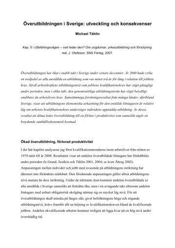 Överutbildningen i Sverige: utveckling och konsekvenser