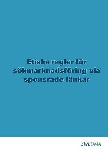 Etiska regler för sökmarknadsföring via sponsrade länkar - Swedma