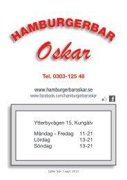 Ladda Ner Menyn Här - hamburgerbar oskar