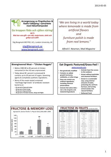 Microsoft PowerPoint - Falk\303\266ping 2013 del 3 ... - Stig Bengmark