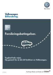 Forsikringsbetingelser. - Volkswagen