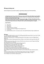 Några övningar att börja med och lästips - Pedagog Stockholm