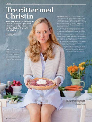 Gourmet - Hemma hos Christin