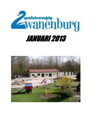 JANUARI 2013 - Speeltuinvereniging Zwanenburg