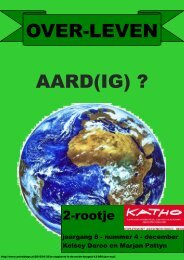 OVER-LEVEN AARD(IG) ? - Katho
