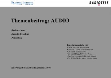 Radiowerbung - Audio Relation