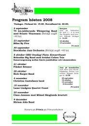 (Ladda hem programbladet (pdf) här!) - Örebro Jazz & Blues Club
