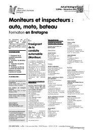 Moniteurs et inspecteurs : auto, moto, bateau - CRIJ Bretagne