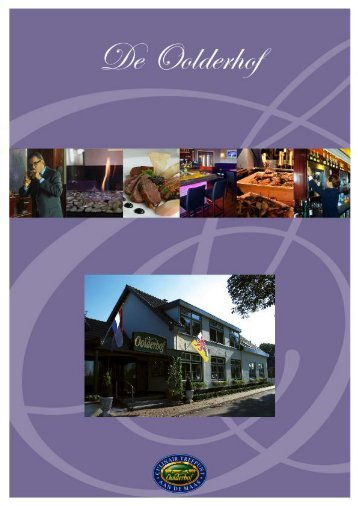 Download hier de banquetingmap - De Oolderhof