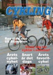 Läs Cykling nr:2-08 här (pdf-fil, 11Mbyte) - Cykelfrämjandet