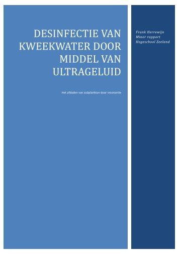 Desinfectie van kweekwater door middel van ultrageluid