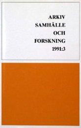 ARKIV -SAMHÄLLE OCH FORSKNING - Visa filer