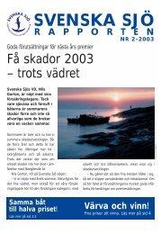 Mini Sj. Rapport 2-03 - Svenska Sjö
