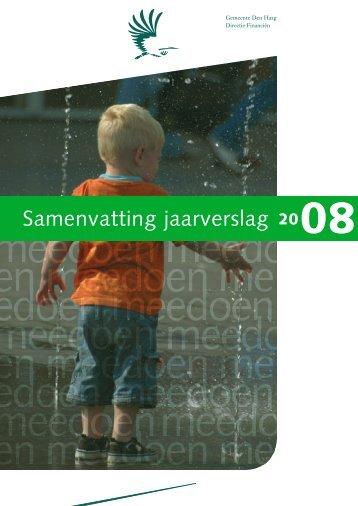 Samenvatting Jaarverslag 2008 Gemeente Den Haag
