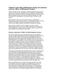 Läs hela brevet av Henrik Johansson (pdf) - Barometern