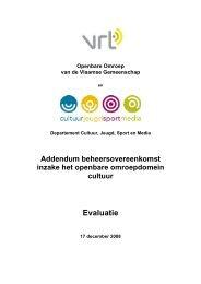 evaluatierapport Cultuur bij beheersovereenkomst VRT 2008 (PDF)