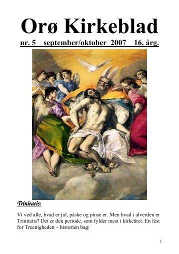 Nr. 5 sep/okt 2007 - Orø Kirke
