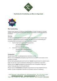 Kwaliteitsvolle Ontwikkeling van Mens en Organisatie Disc ...