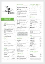 Download onze menukaart hier (PDF) - Eeterij De Buren