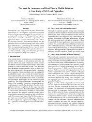 The Need for Autonomy and Real-Time in Mobile Robotics: A Case ...