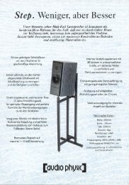 Step flyer german - Audio Physic