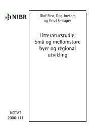 Litteraturstudie: Små og mellomstore byer og regional utvikling