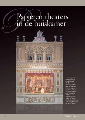 Papieren theaters in de huiskamer - Julius de Goede