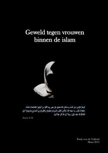 'Geweld tegen vrouwen binnen de islam', 8 maart 2013 - Pvv