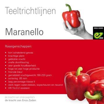 Maranello Teeltinfo PDF - Enza Zaden