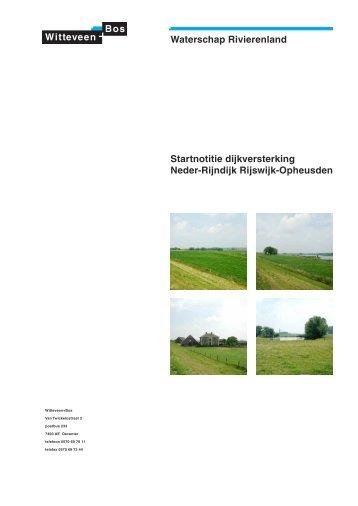 Waterschap Rivierenland Startnotitie dijkversterking Neder-Rijndijk ...